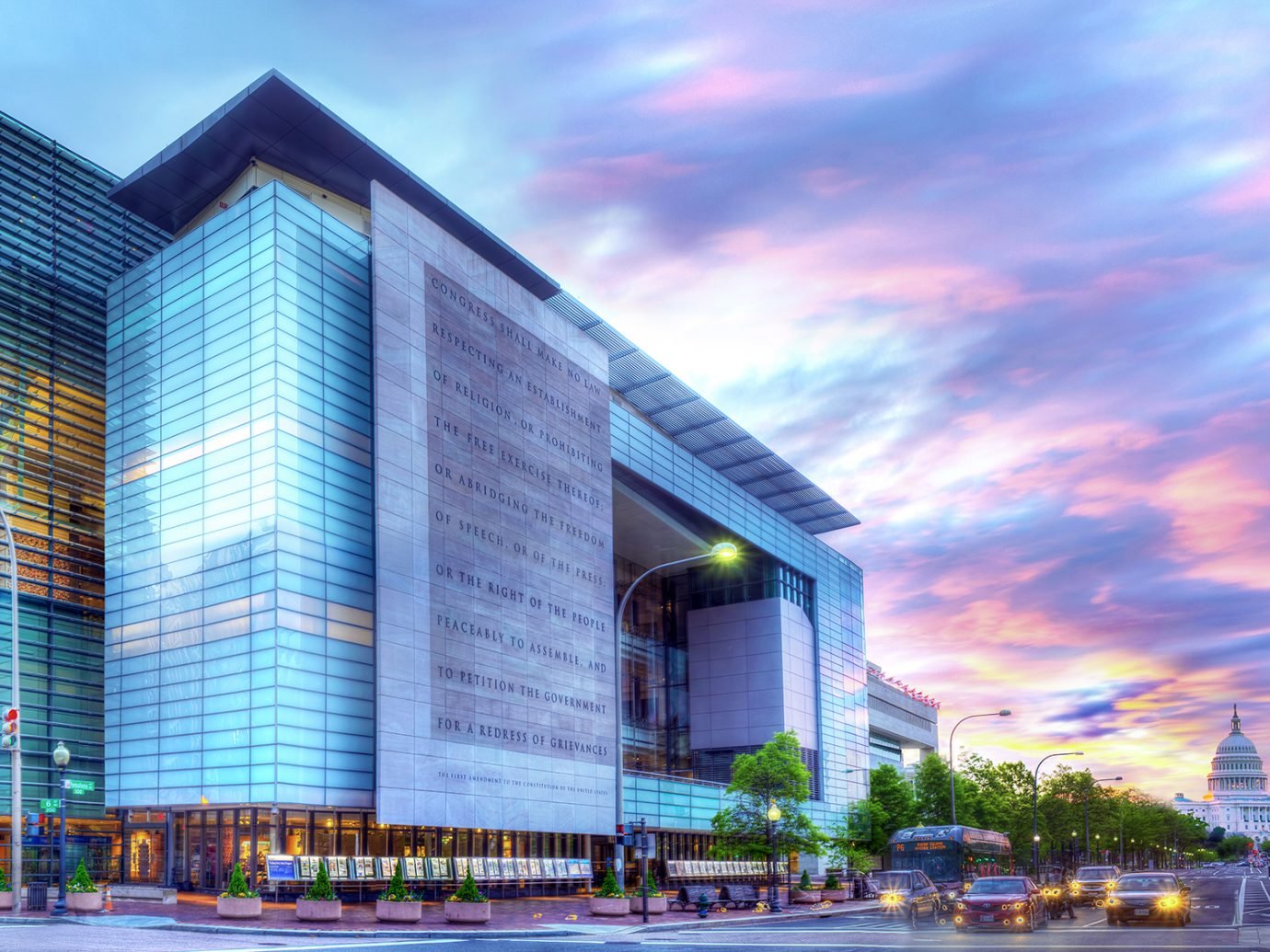Newseum exterior, Washington DC