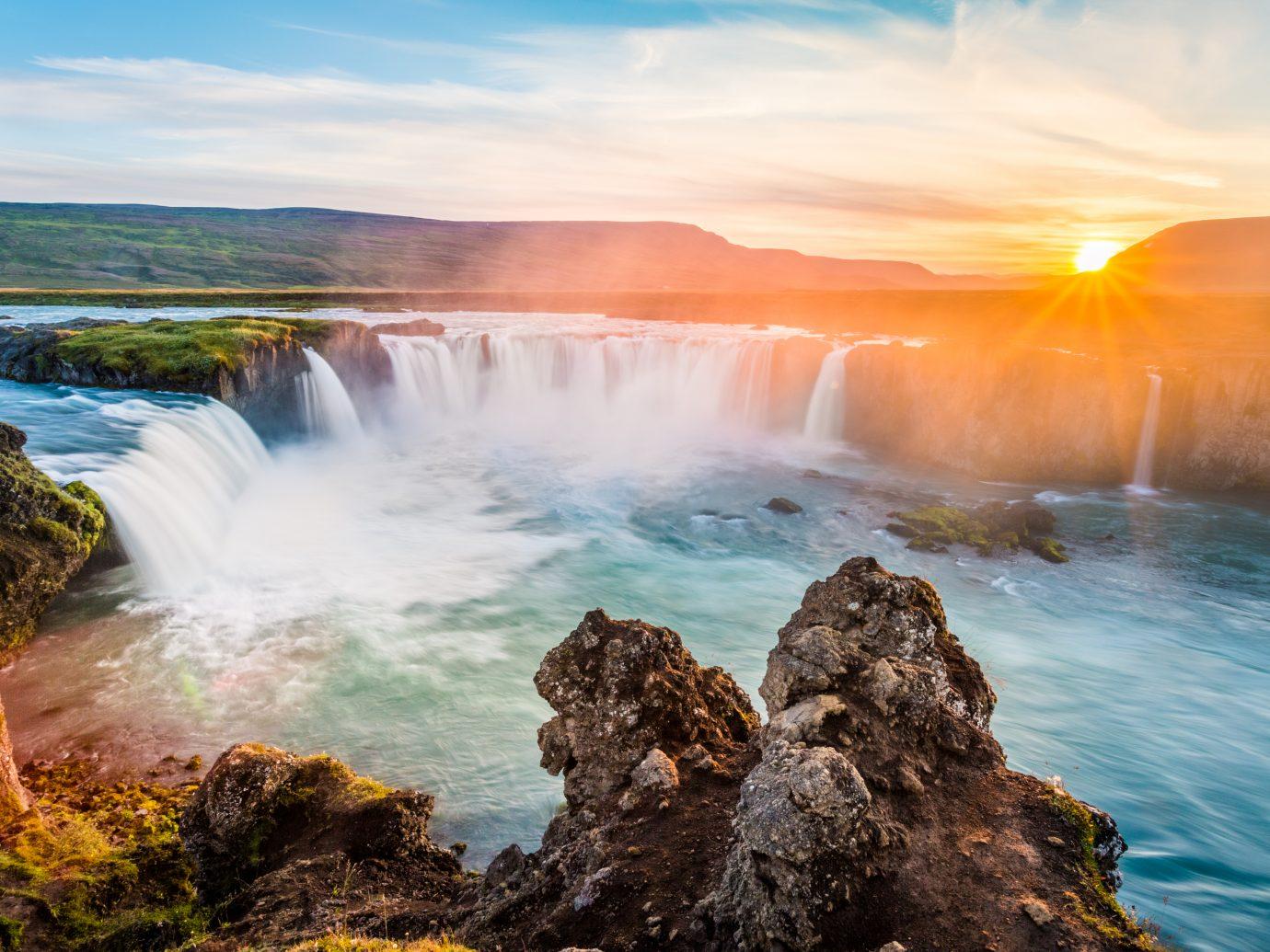 Godafoss, waterfall. Iceland, Europe