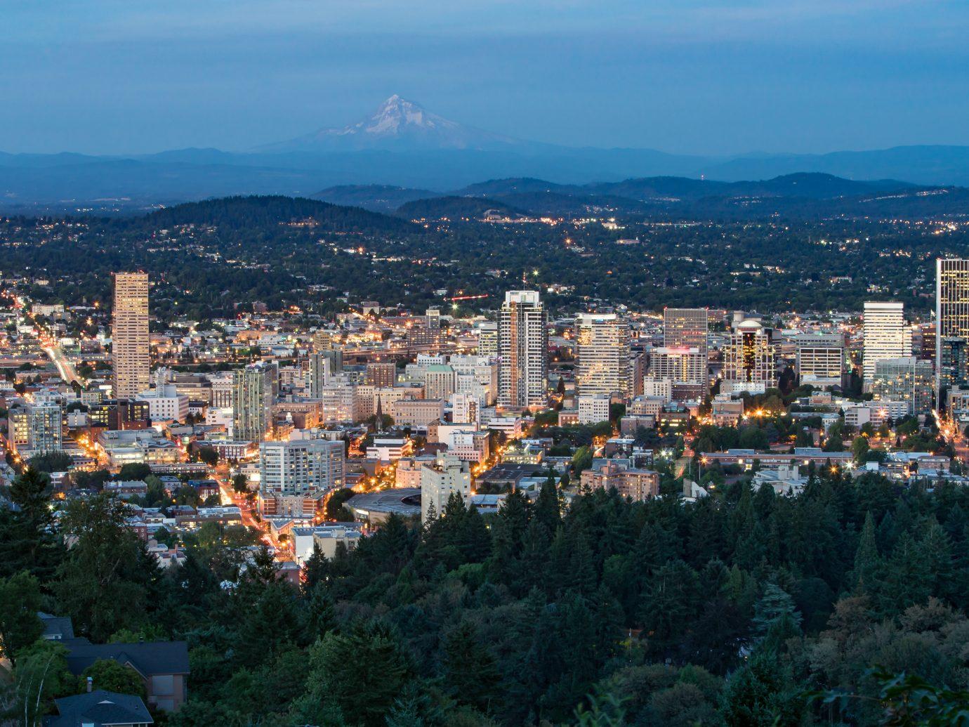 Night City Skyline of Portland, Oregon