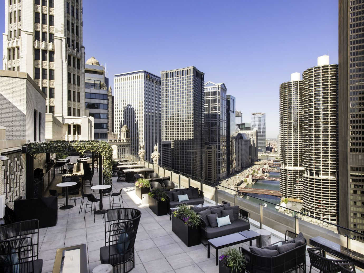 Patio view at LondonHouse Chicago, Curio Collection by Hilton