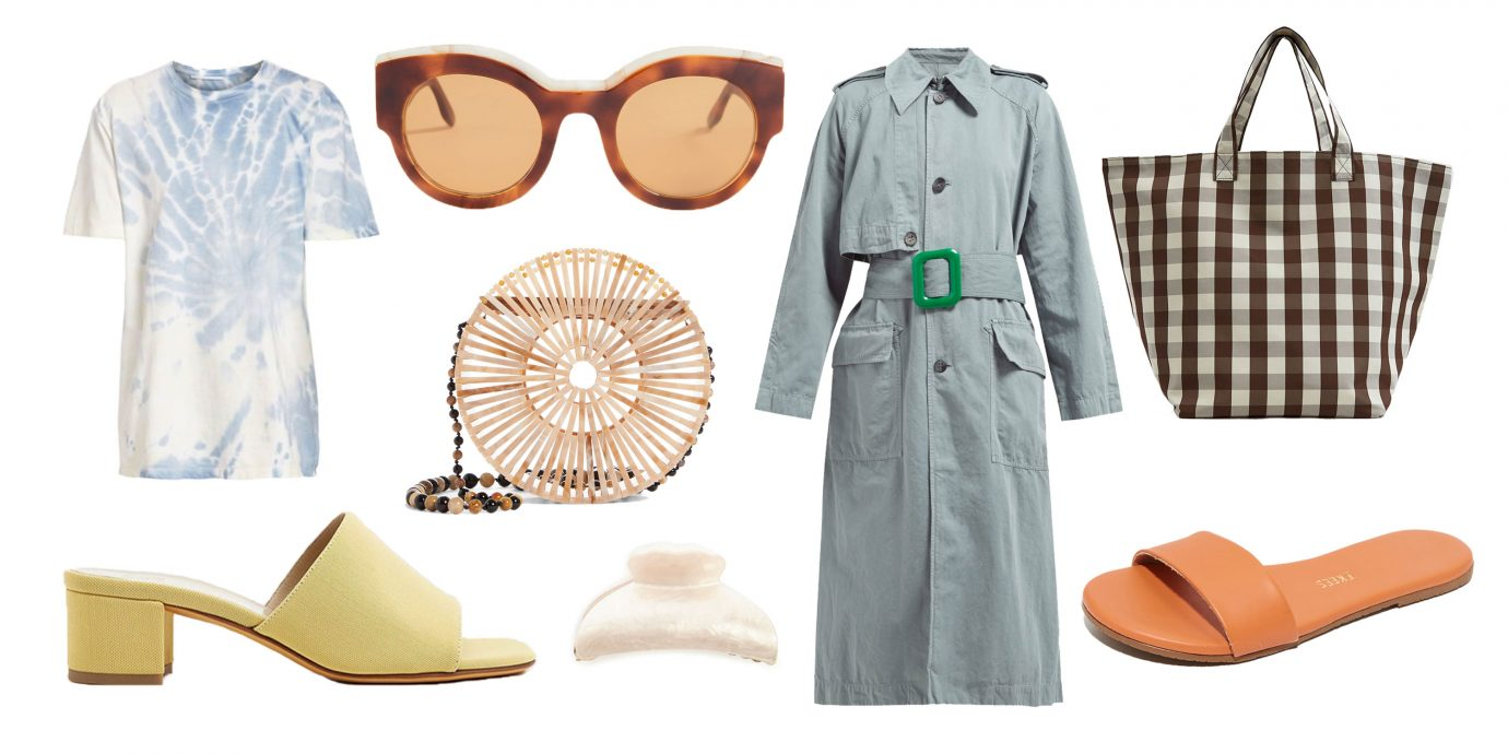 stylish spring clothing essentials collage