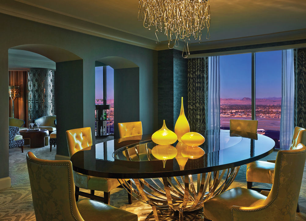 Dining room at Presidential suite at the Four Seasons Las Vegas