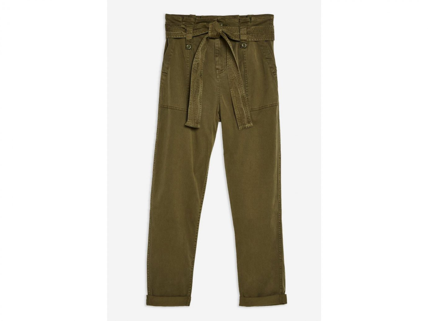 PETITE Paperbag Utility Trousers