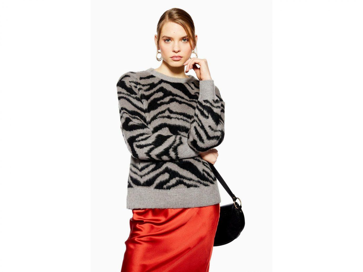 Topshop Zebra Print Jumper