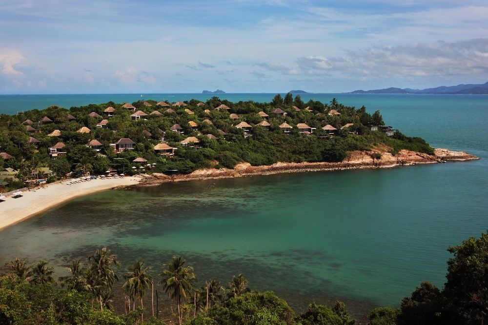 Aerial view of Six Senses Samui