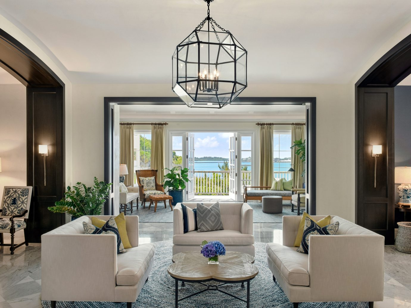 Living room at Rosewood Bermuda