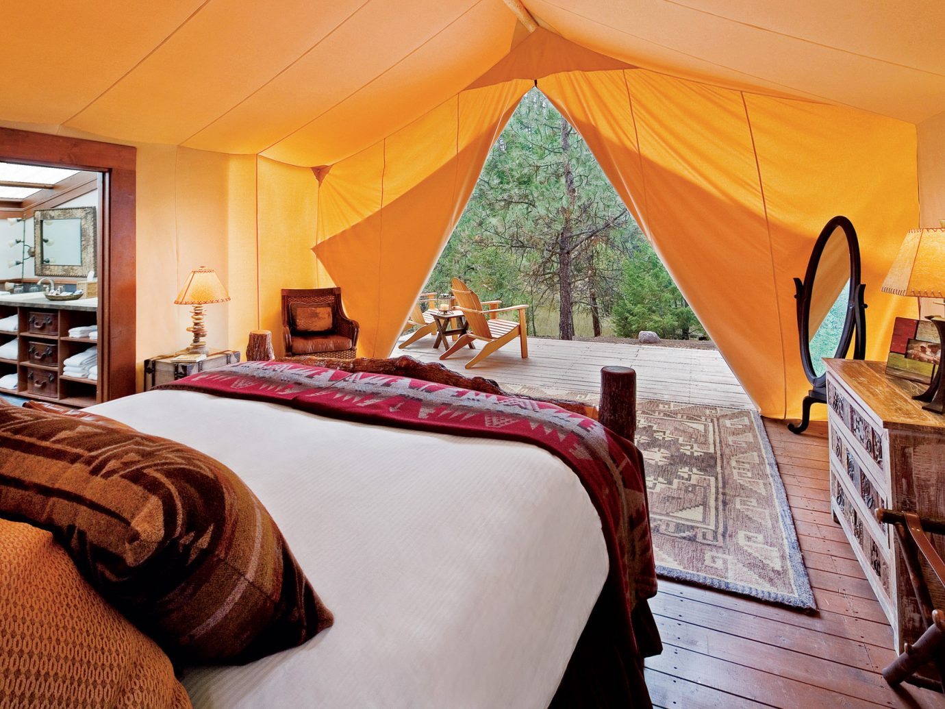 Bedroom at The Resort at Paws Up, Montana