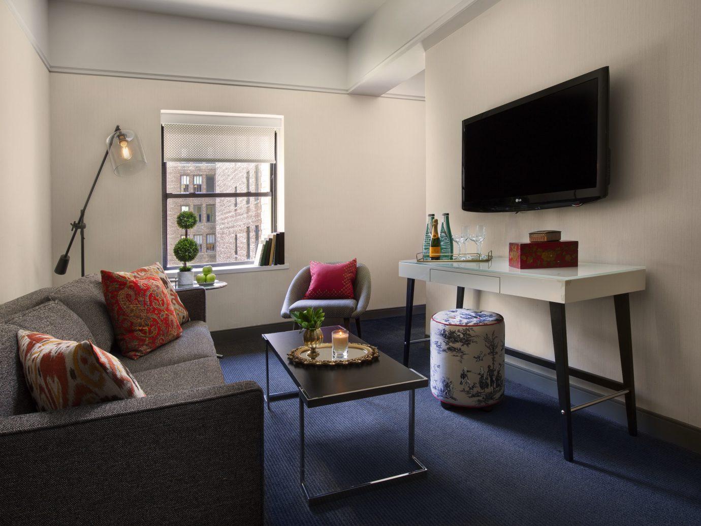 Living room at The Redbury, New York City