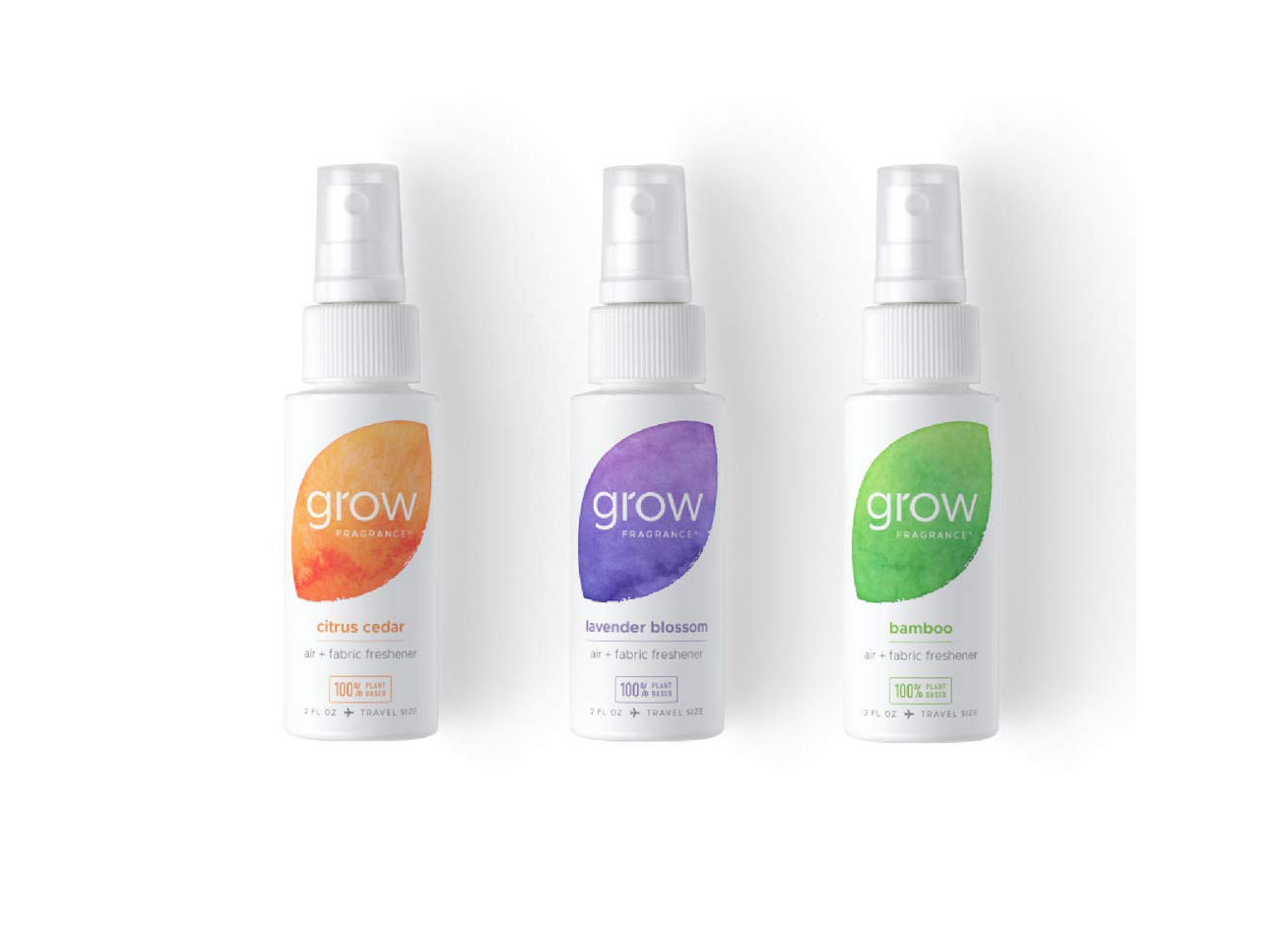 Grow Fragrance Plant-Based Fabric Freshener Travel Spray