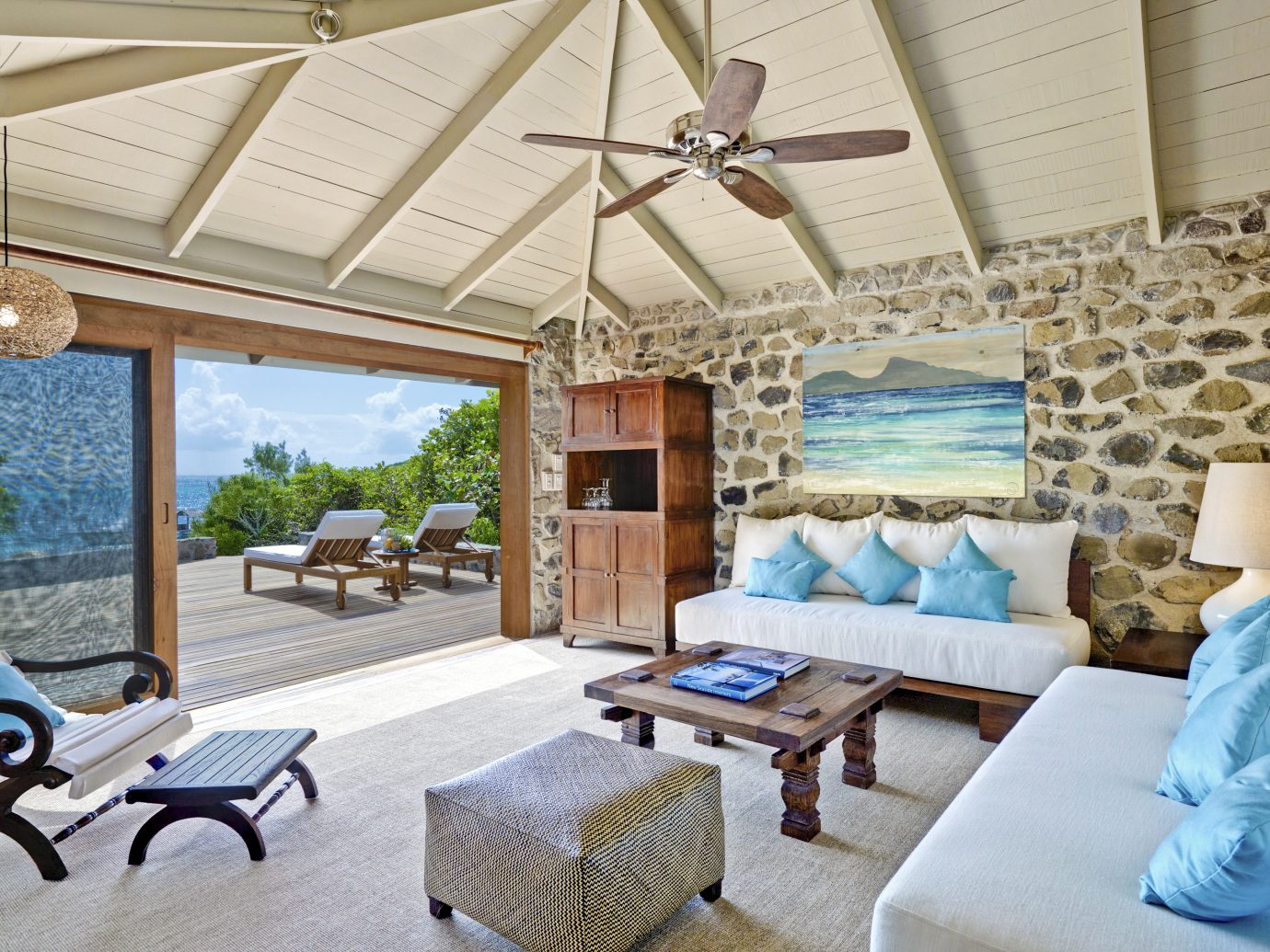 Cottage Lounge at Petit St Vincent