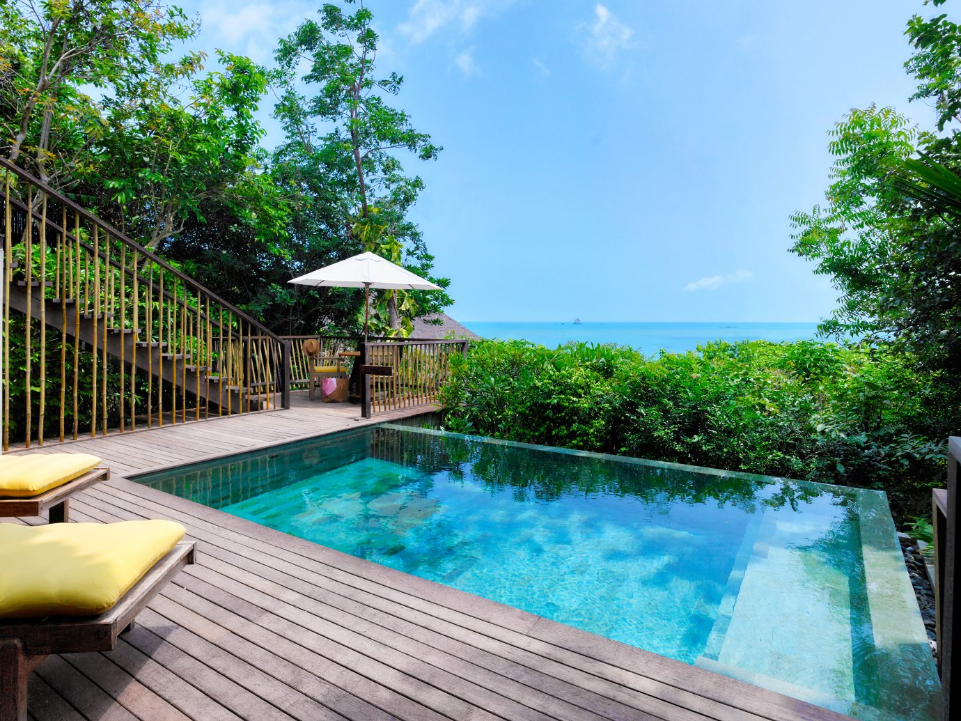 Private pool at Six Senses Samui