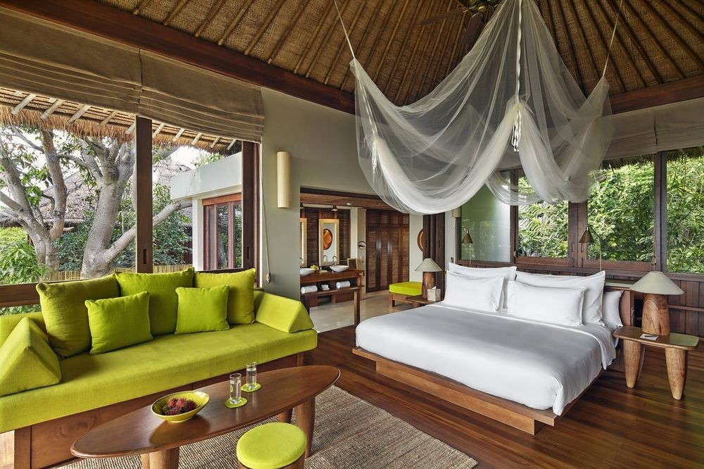 bedroom at Six Senses Samui