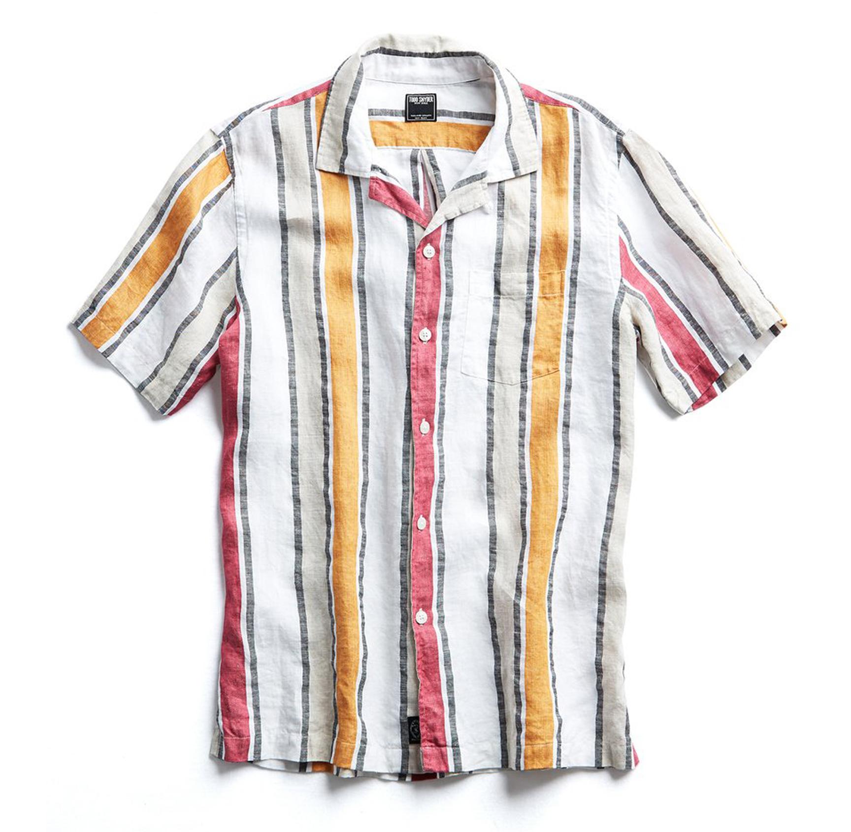 Tom Snyder striped shirt