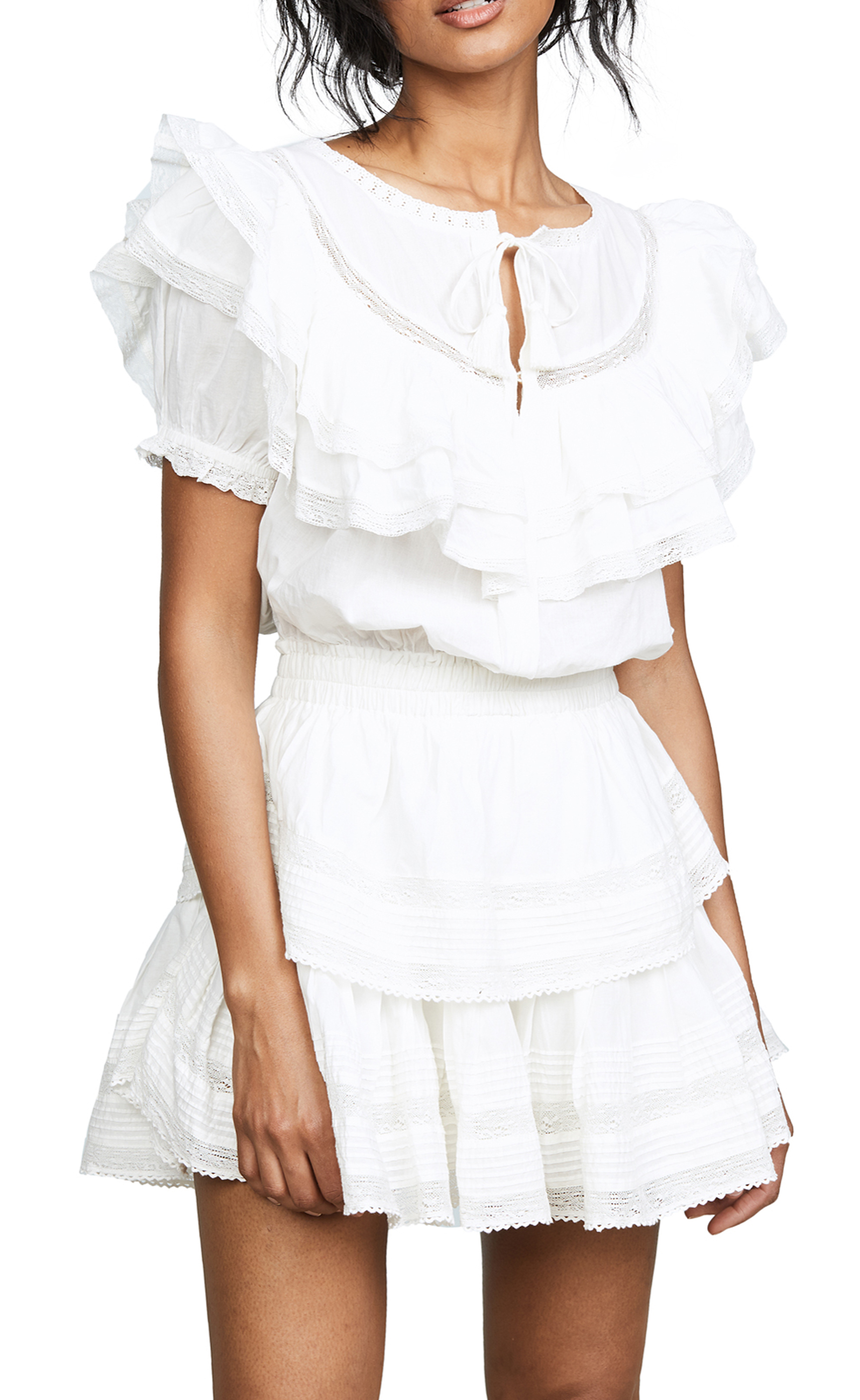 Liv White Ruffled Dress