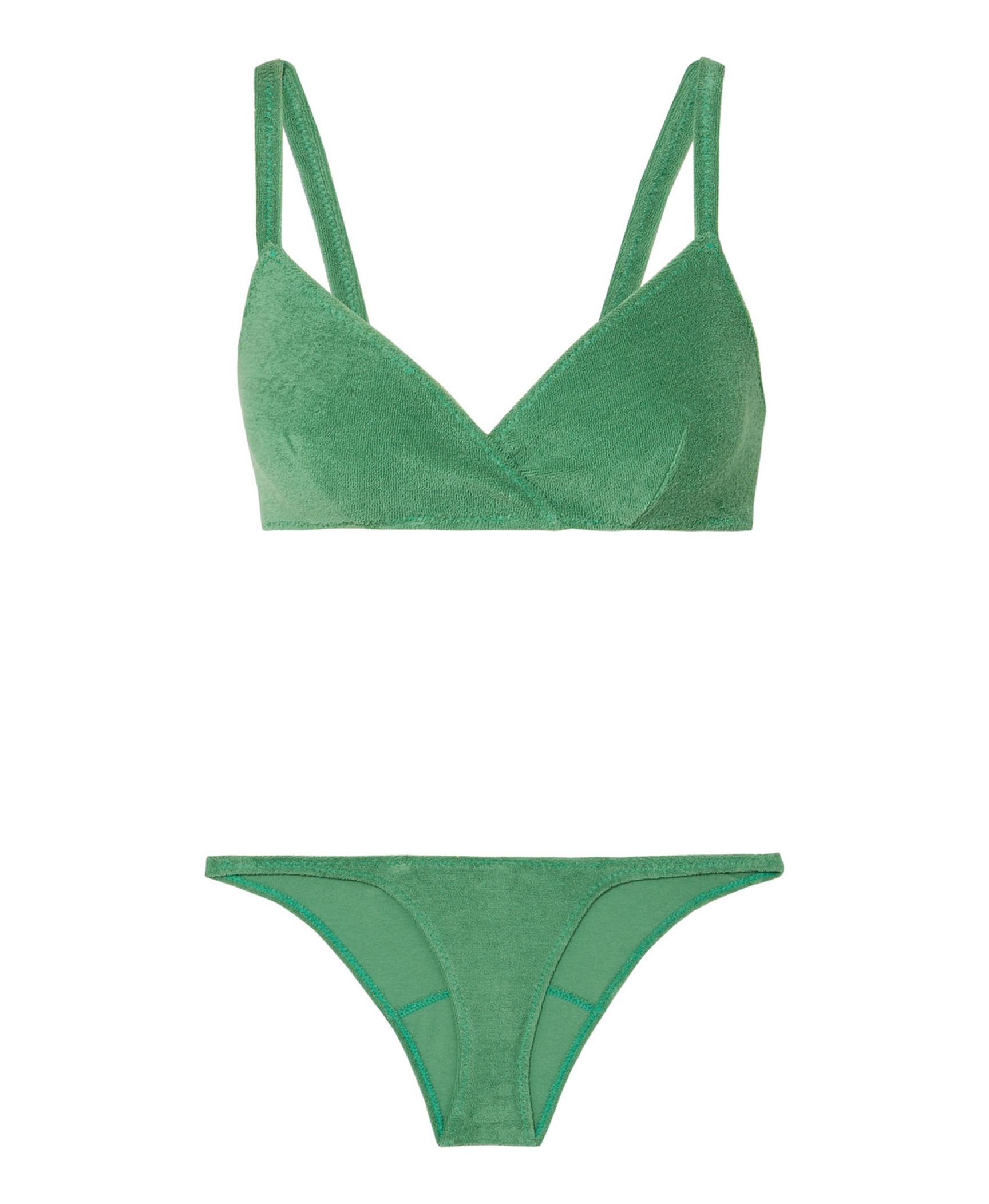 Green Terry Bikini