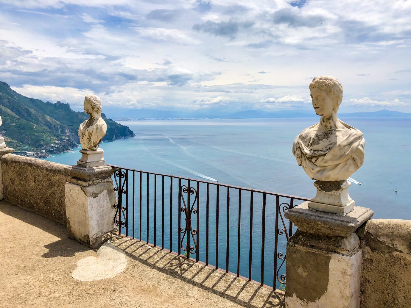 Balcony with view over the Amalfi Coast