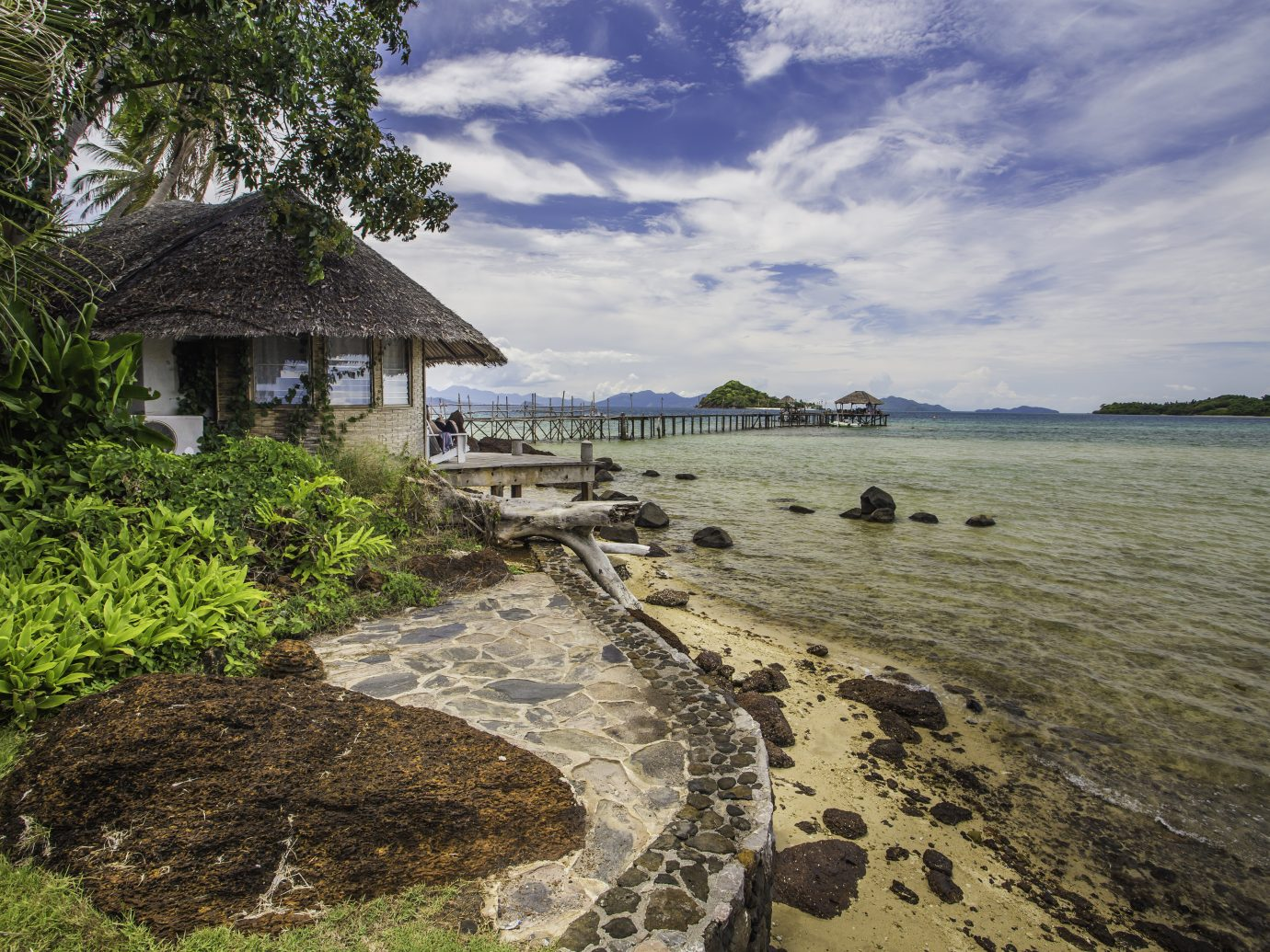 Bungalow with sea view from Koh Mak island, Thailand.