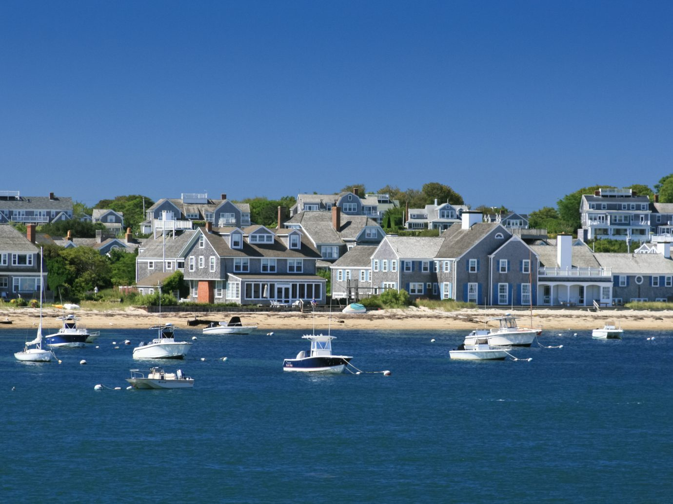 Boats and waterfront Houses, Nantucket, Massachusetts