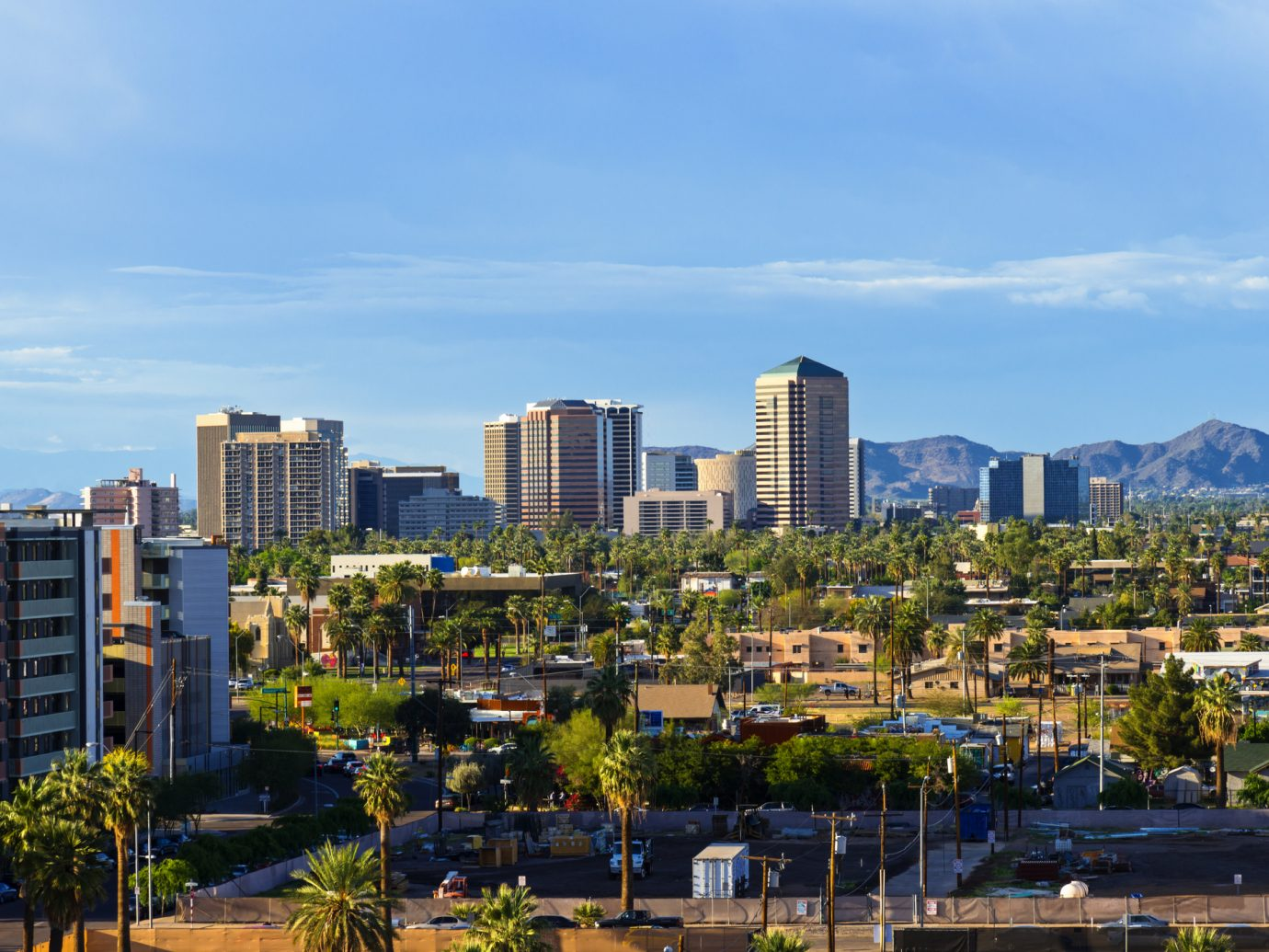 Downtown Scottsdale and suburbs of Phoenix, Arizona