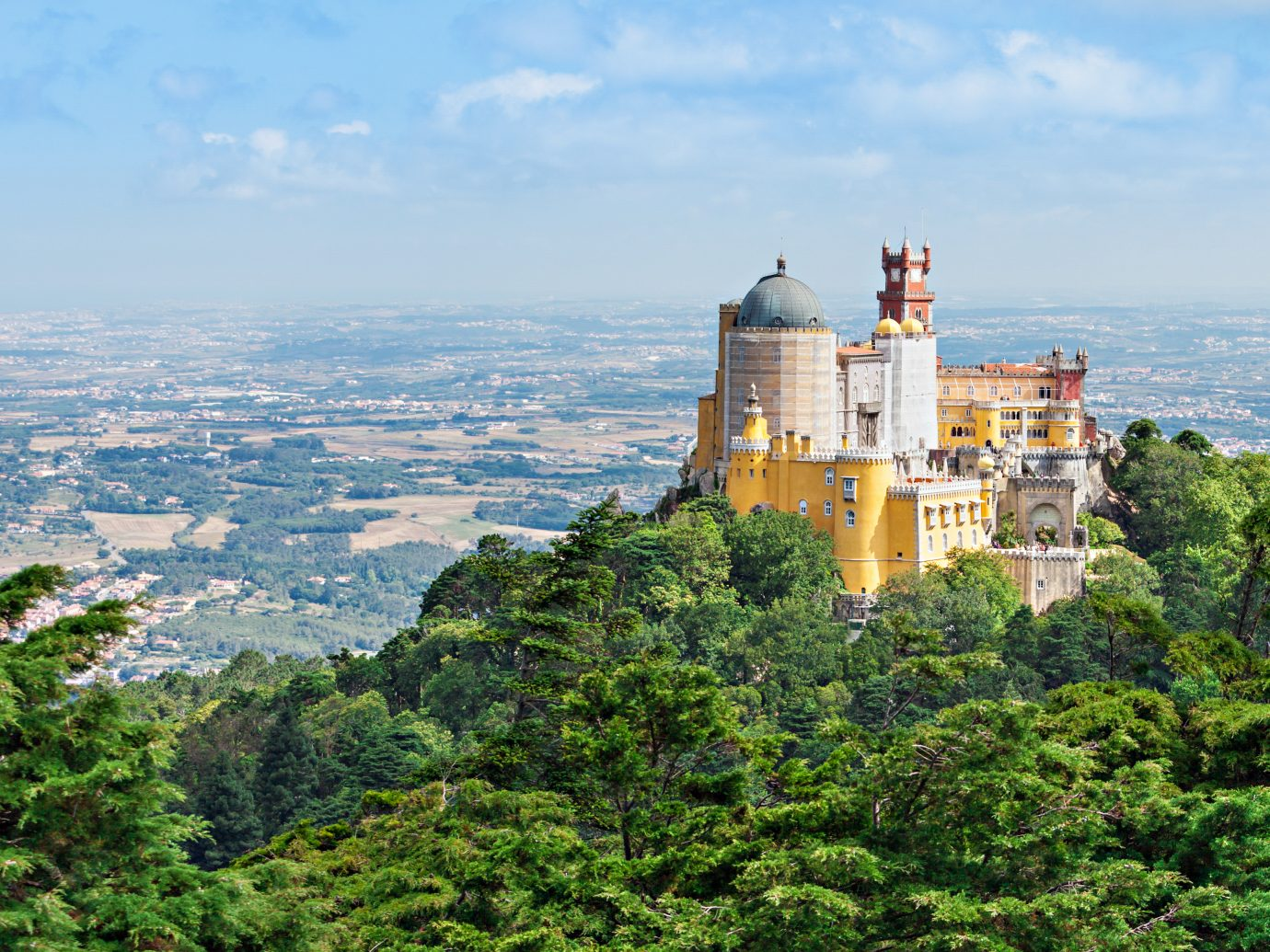 The Pena National Palace in Sao Pedro de Penaferrim, Sintra, Portugal