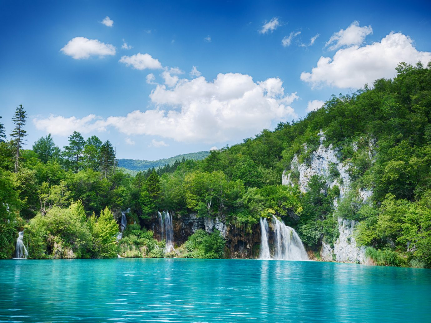 Idyllic scene from the Plitvice Lakes National Park