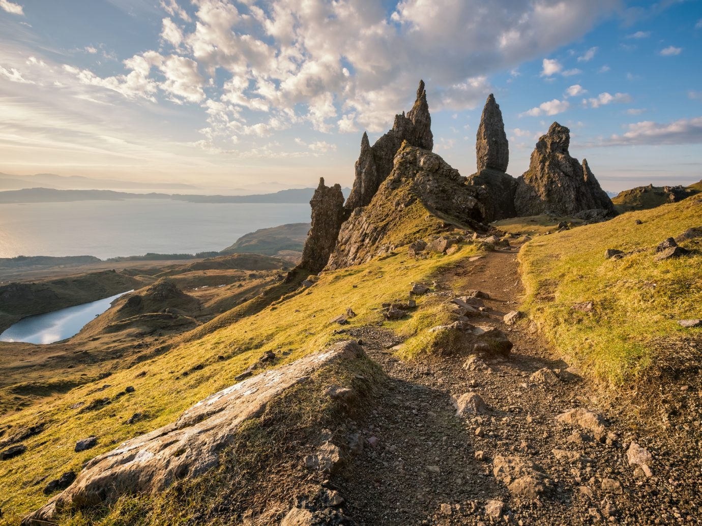 Sunrise at the Old Man of Storr, Isle of Skye, Scotland.