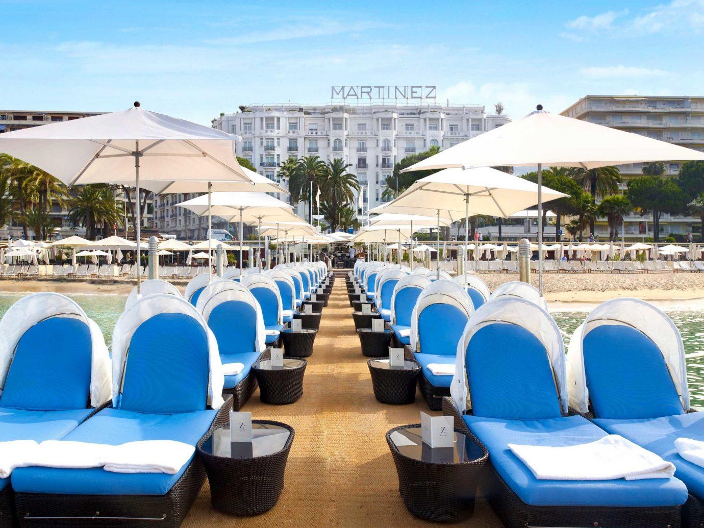Beach at the Hôtel Martinez Cannes by Hyatt