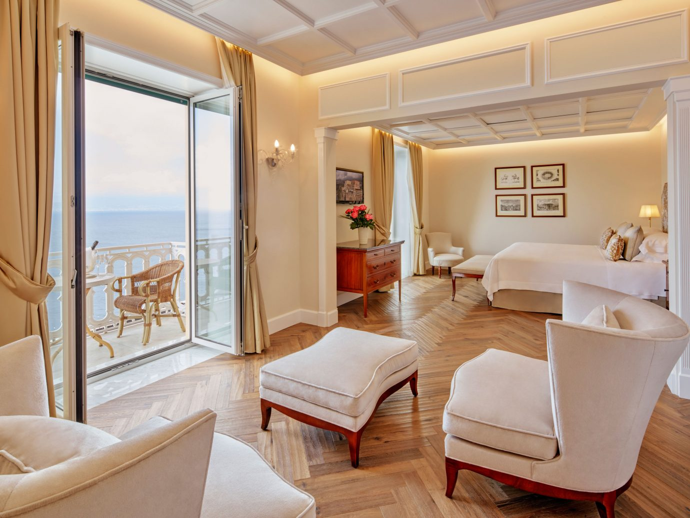 Bedroom at Grand Hotel Excelsior Vittoria Sorrento, Italy