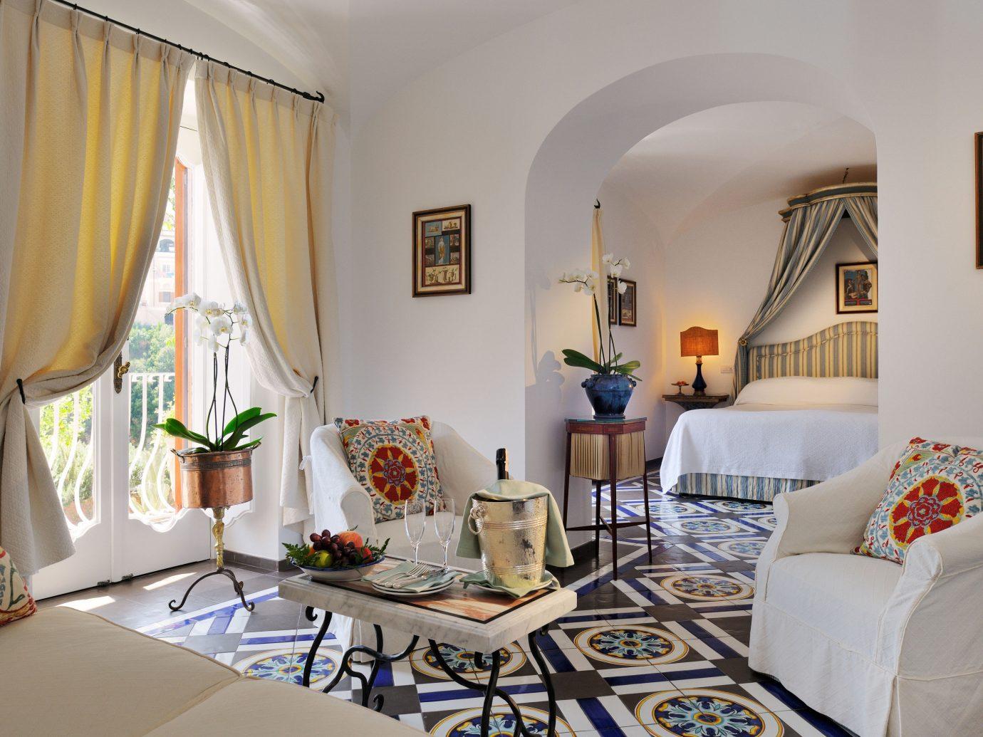 Bedroom at Le Sirenuse Positano, Italy