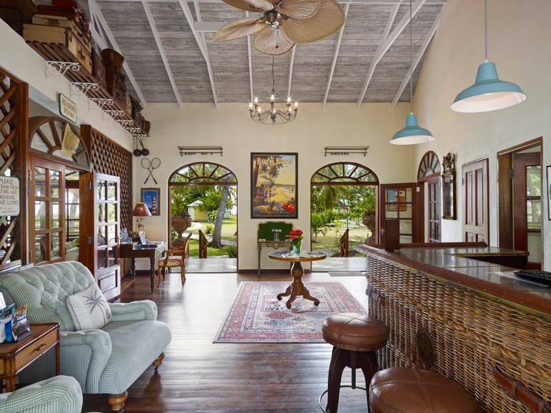 Lobby at Bequia Beach Hotel