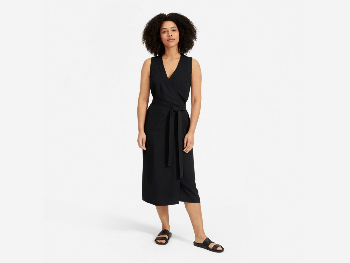 Everlane The Japanese GoWeave Sleeveless Wrap Dress