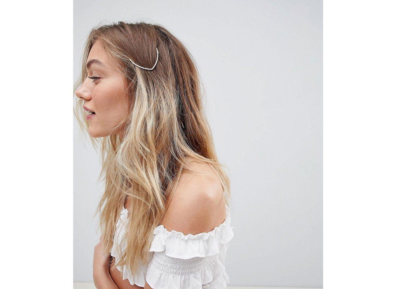 Aurelia Hammered Gold Arrow Hair Clip