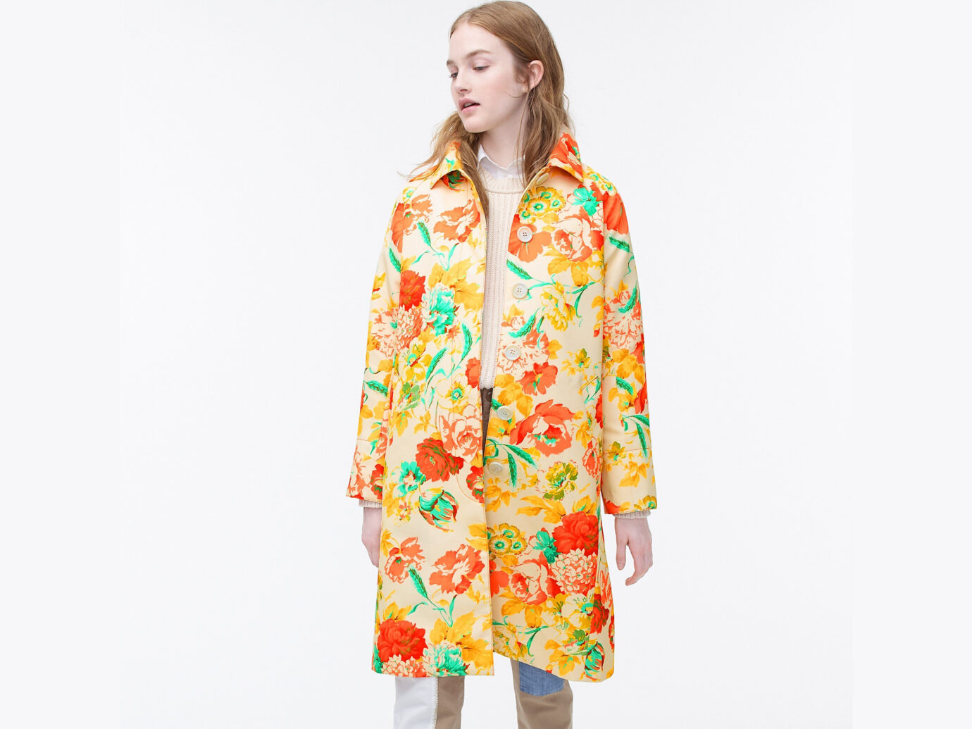 .Crew Collection Trench Coat in Ratti® Woodstock Floral Print