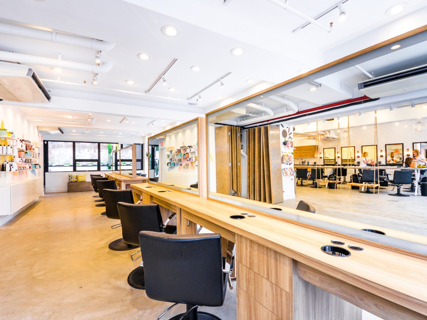interior of Fox & Jane hair salon NYC