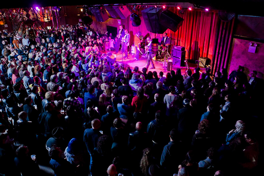 Crowd at a show at the Bell House