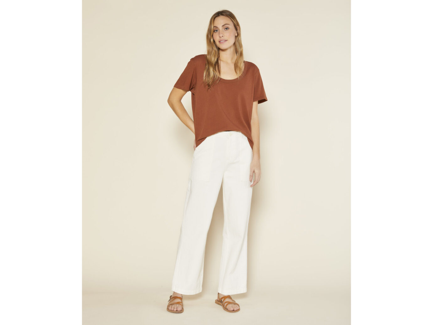 Outerknown Sunny Scoop Neck Tee