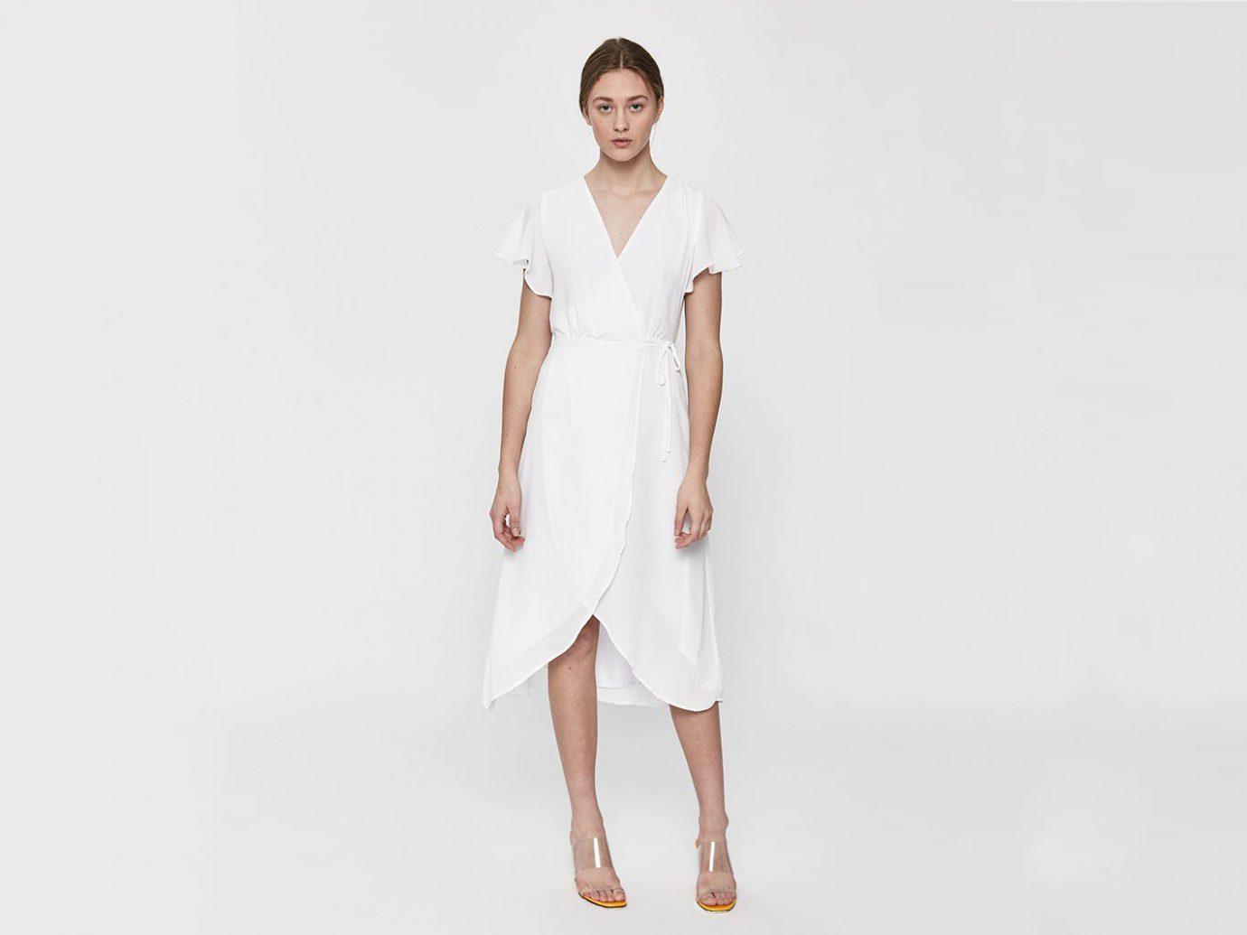 Farrow Marguerite Flutter Sleeve Dress