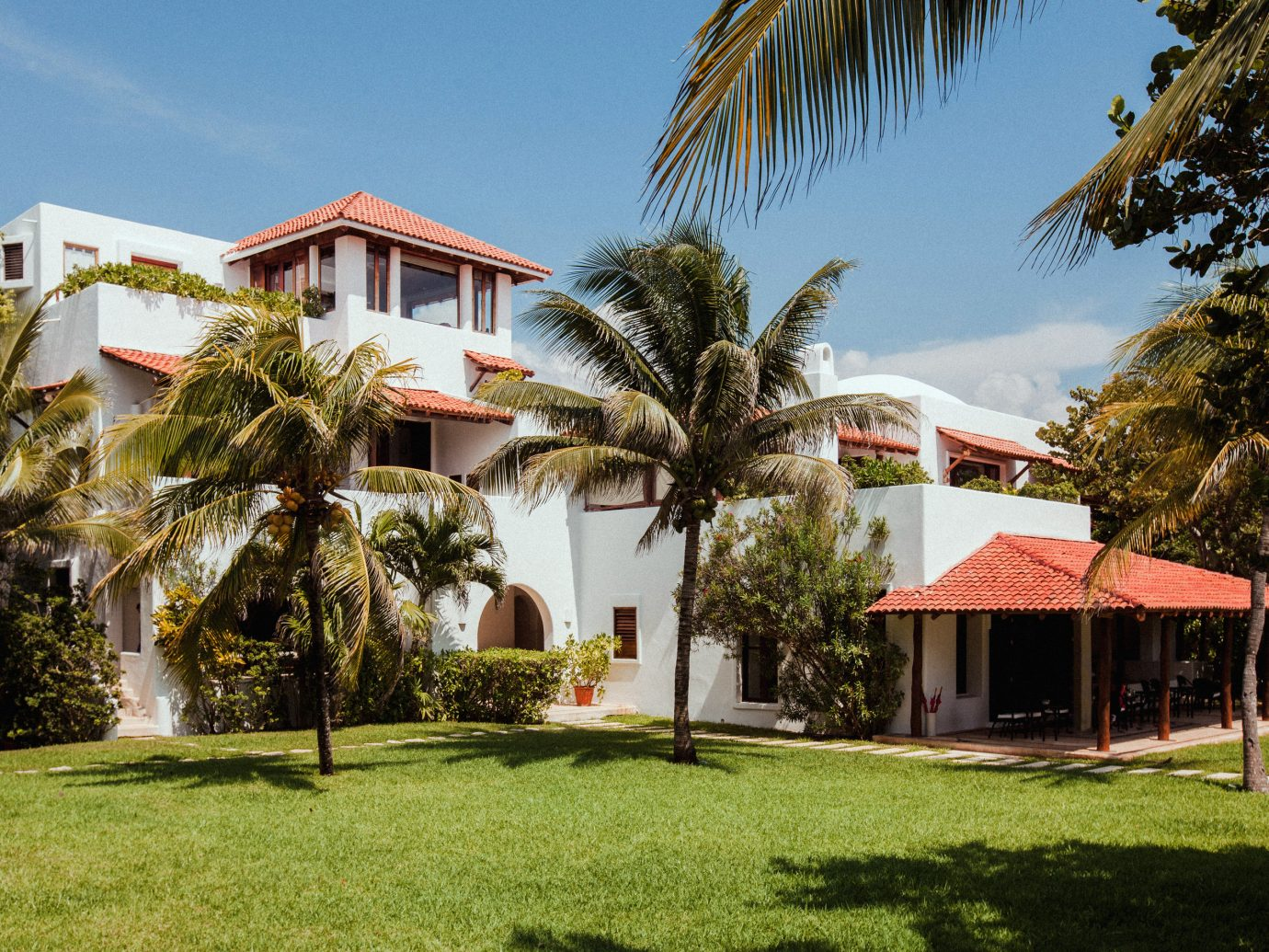 Exterior of Hotel Esencia in Tulum