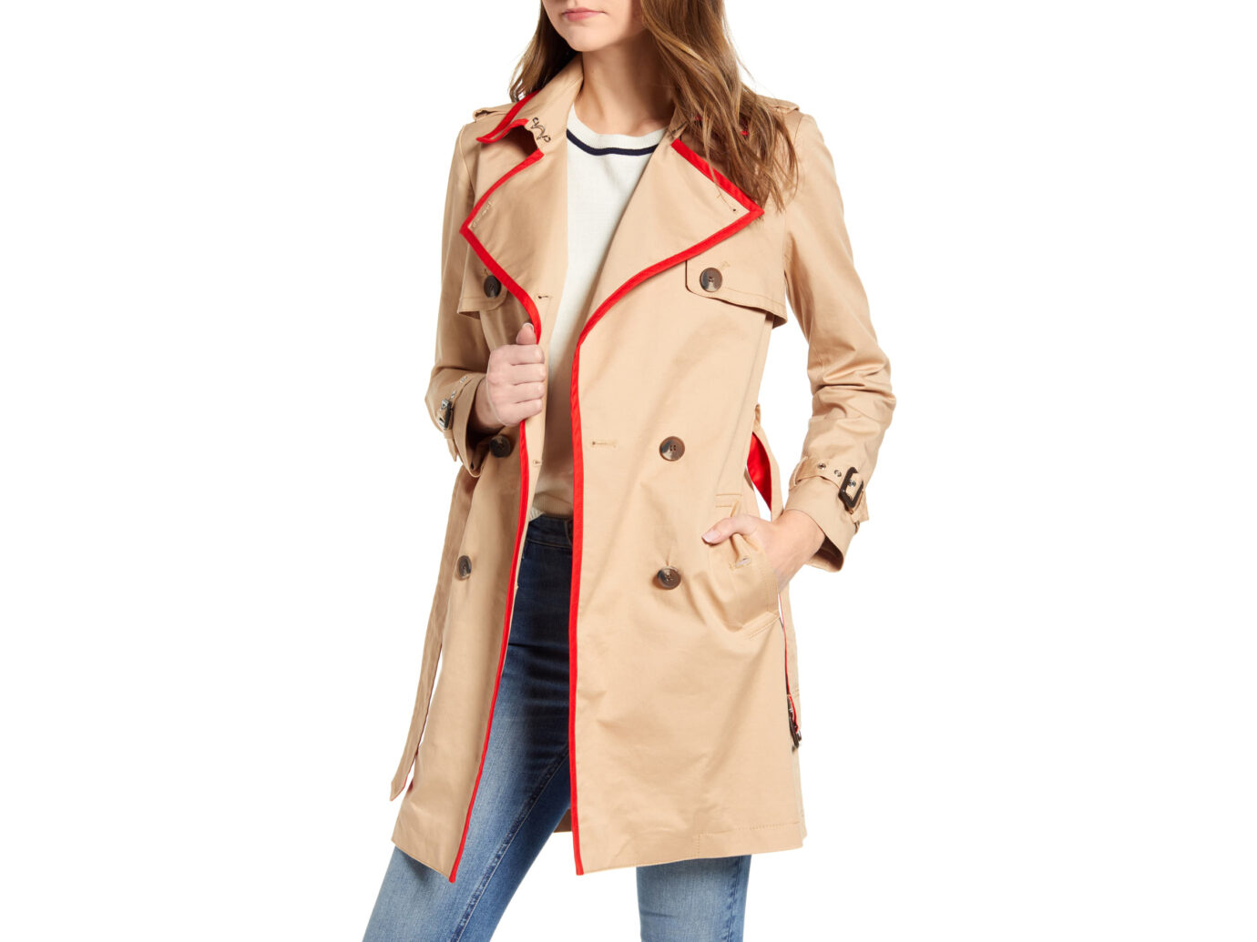 Court & Rowe Classic Stretch Cotton Trench Coat