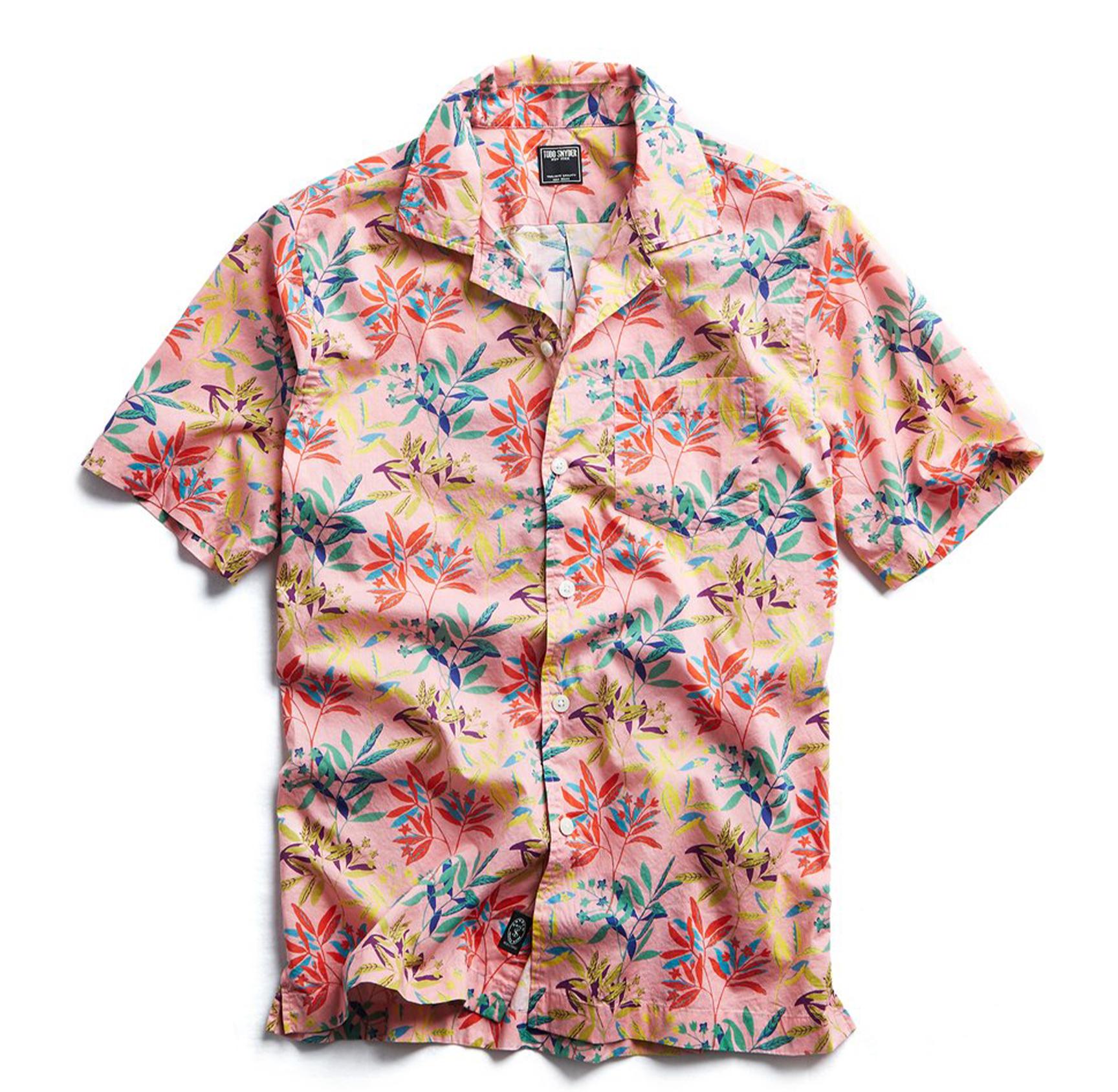 10 Deep Men South Beach Button Up Shirt pink
