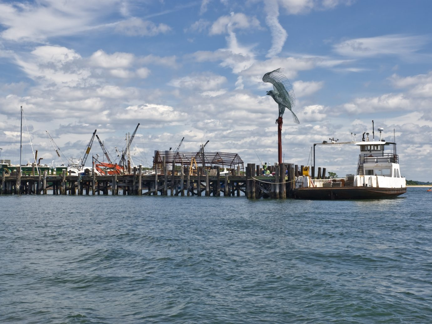 the Entrance to Greenport Harbor on Long Island.