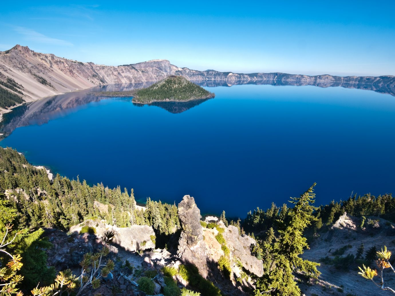 """Crater Lake and Wizard Island, Crater Lake National Park, Oregon"""