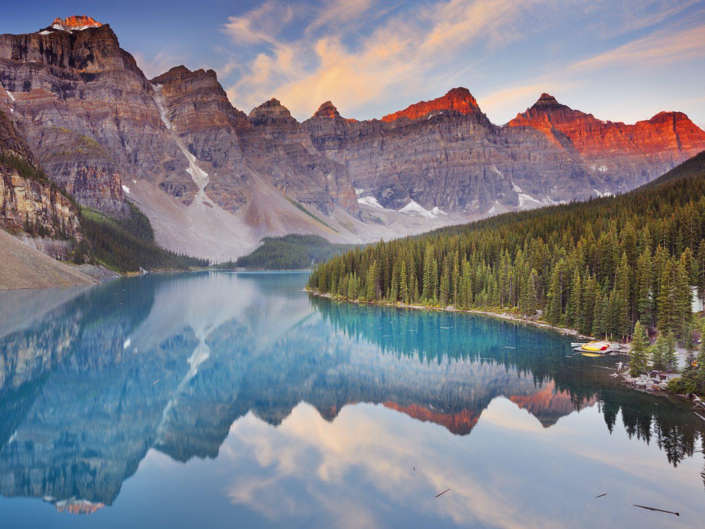 Beautiful Moraine Lake in Banff National Park, Canada