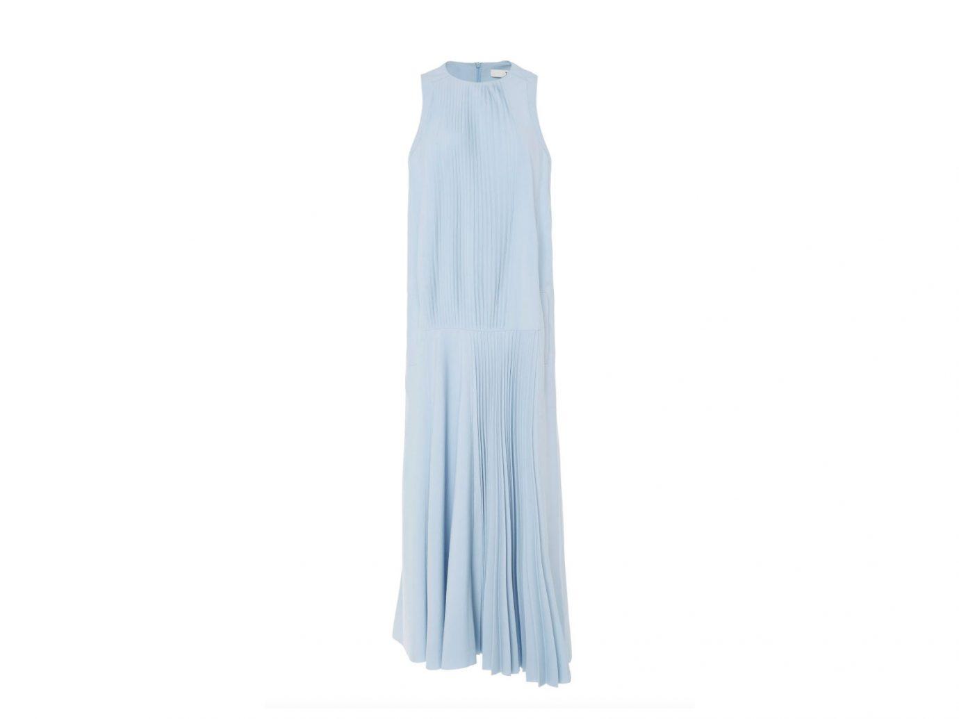 powder blue Tibi maxi dress