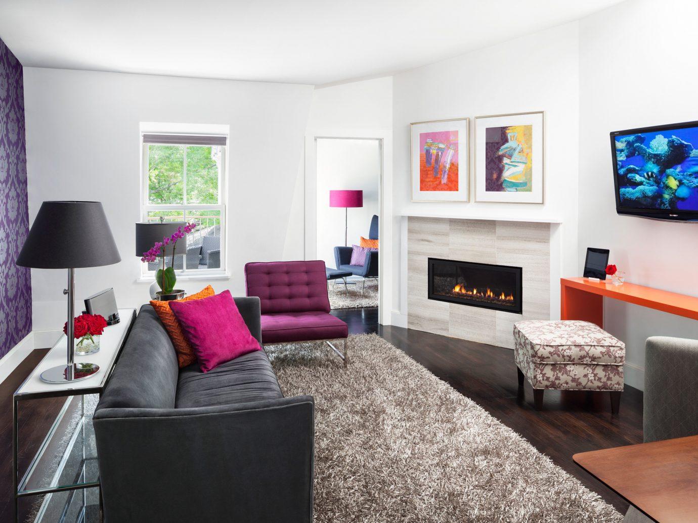 Living room at Camden Harbour Inn