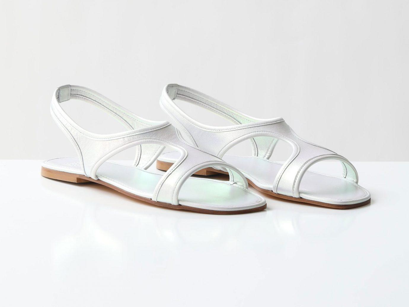 Maryam Nassir Zadeh sale mnz silver corazon flat sandals