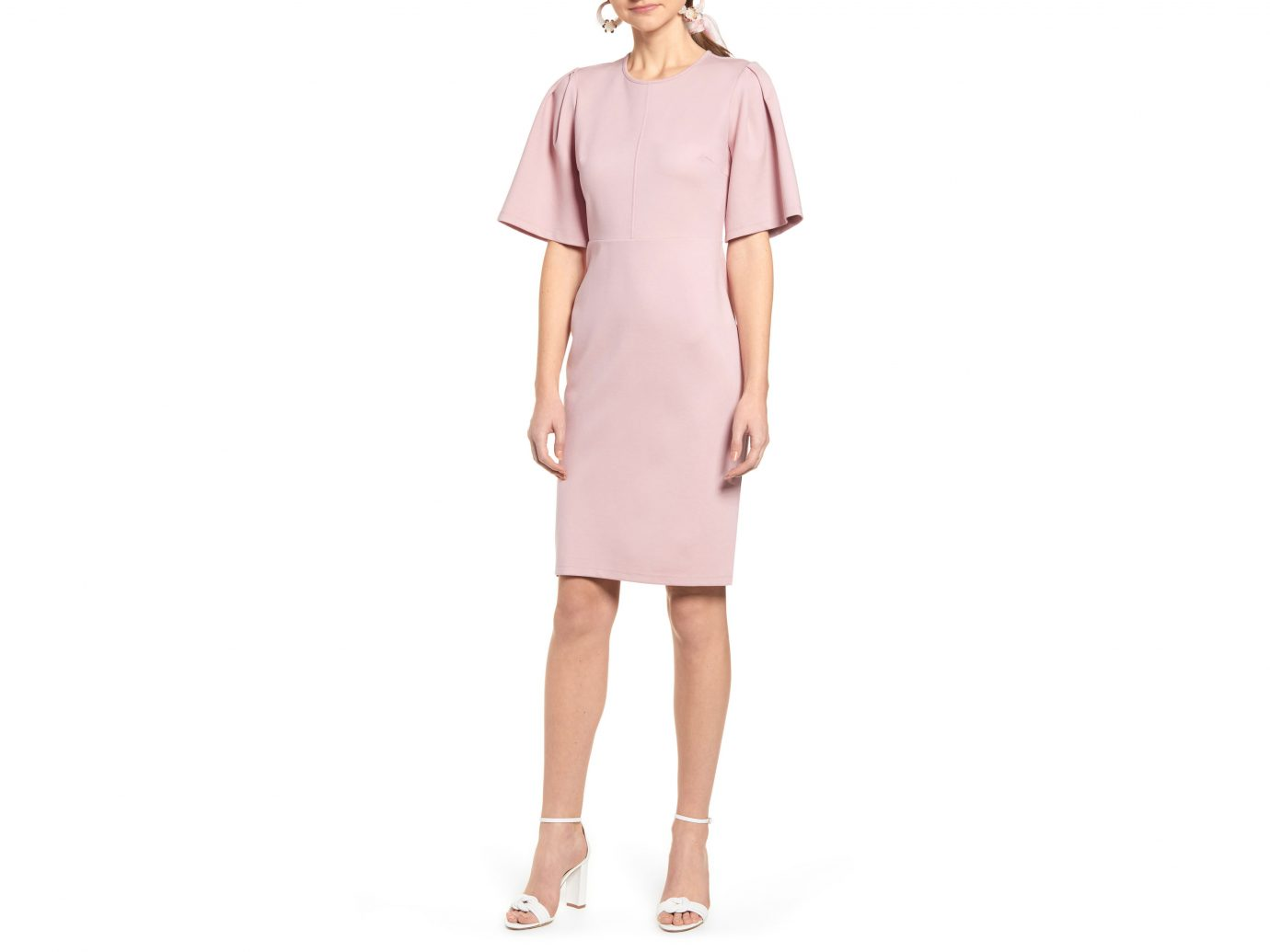 Rachel Parcell Flutter Sleeve Ponte Dress