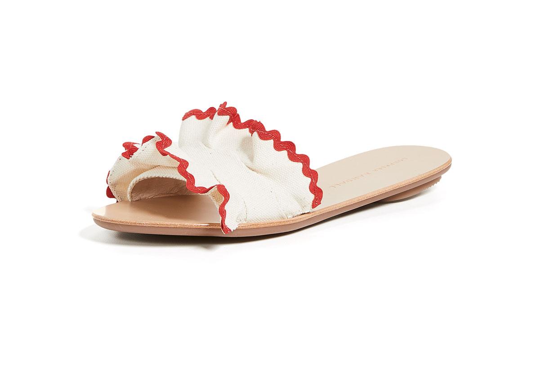 Loeffler Randall rick rack slide sandals