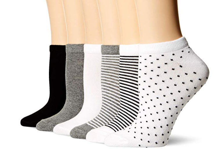 Amazon Essentials Women's 6-Pack Casual Low-Cut Socks
