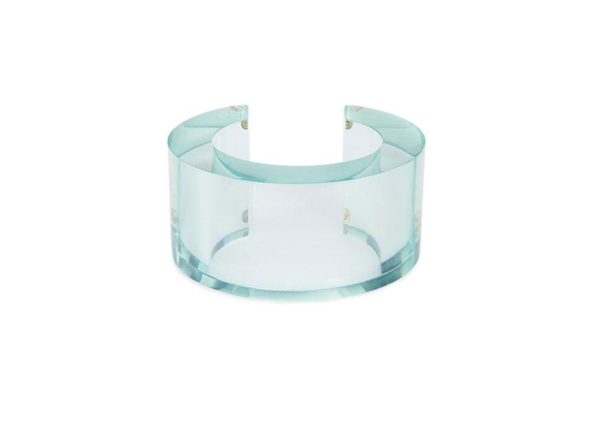 Lizzie Fortunato aqua post-modern cuff